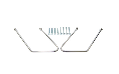 Hard Drive Saddlebag Supports for '84-99 FXST Two Bolt  -Pair