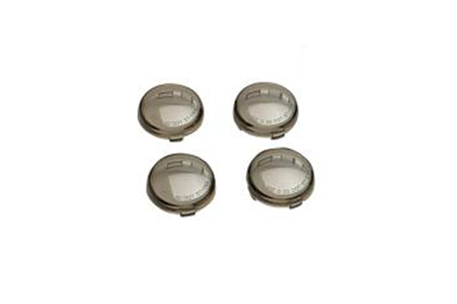 Drag Specialties Replacement Smoked Turn Signal Lens Kit for '00-20 H-D Models with Bullet Turn Signals Repl. OEM #69304-02