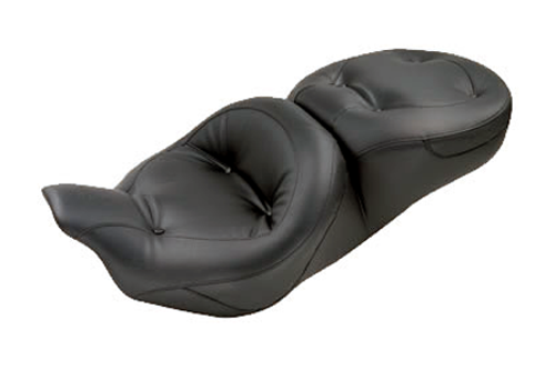 Mustang Seats Regal One-Piece Super Touring Seat for Harley Davidson Touring Models 2008-Up -with Receiver