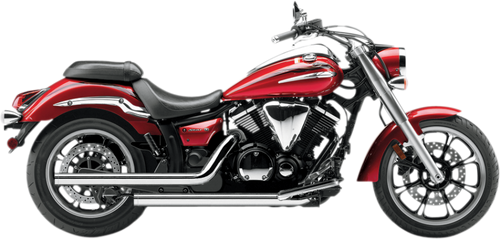 Cobra Dragsters Exhaust for Yamaha V-Star 950 - Chrome