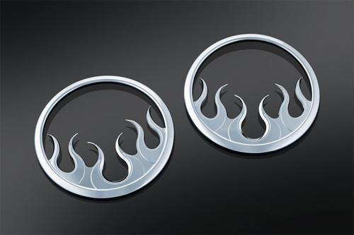 Kuryakyn Flame Speaker Grills for '14-Up Touring & Trike Models