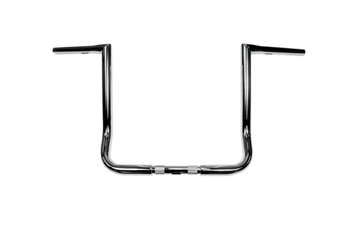 L.A. Choppers Twin Peaks 1 1/4 inch Handlebars for '96-Up FLHT and FLHX Models  - 14 inch Chrome