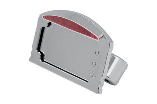 Drag Specialties Side Mount LED Taillight/License Plate Mounts for '08-11 Softail Models -Swingarm Mount, Flat Horizontal
