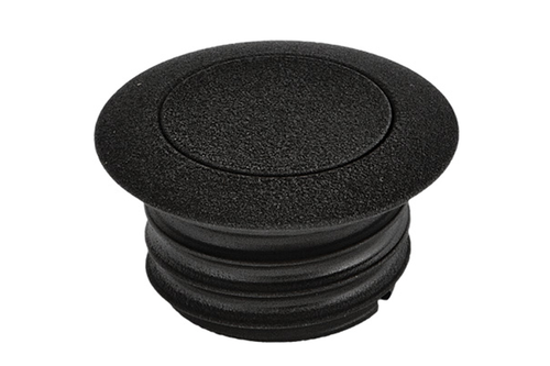 Hard Drive Gas Cap for '82-95 HD & '04-06 XL -Pop-up Screw in Smooth Vented -Wrinkle Black (each)