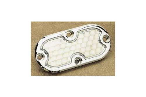 Custom Cycle Eng. Inspection Cover for '84-06 FXST/FLST/FXWG & '93-05 FXDWG -Engine Turned Design