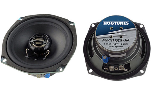 "Hogtunes Generation 3 Replacement Speakers 5.25"" for '06-13 FLHR/FLHX/FLTR-Front, 2 ohm (pr)"