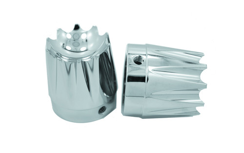 """Avon Axle Nut Covers for all H-D Models (except Touring) -Excalibur, Chrome -&#8542"""""""