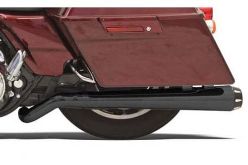 Bassani Pseudo Left-Side Megaphone Muffler for Road Rage System # 1800-1283 on '99-Up FL-Black