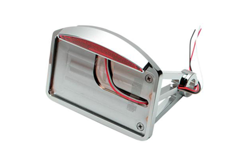 "Drag Specialties Side Mount LED Taillight/License Plate Mounts for '86-99 Softail -Axle Mount (¾""-1""), Flat Horizontal, Half-Moon"