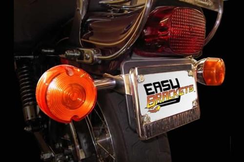 Easy Brackets Turn Signal Relocation Kit  for Softail Standard, Night Train, Springer, Cross Bones '01-Earlier