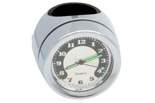 "Drag Specialties Handlebar Mount Clock for 7/8"" or 1"" Handlebars -Each"