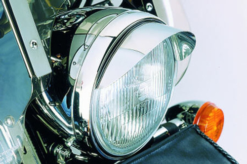 Show Chrome Smooth Headlight Visor 7 Universal