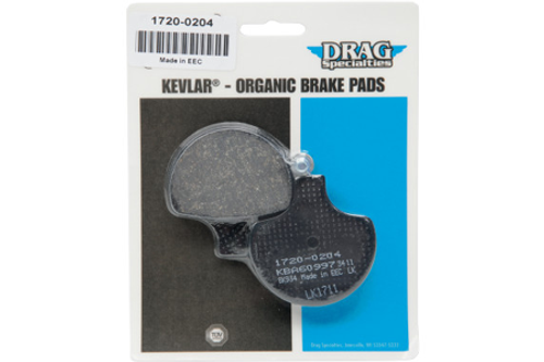 Drag Specialties FRONT Organic Kevlar Brake Pads for Certain H-D  Models OEM #44082-08, 44082-00C/D, 44082-00-Pair