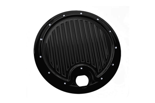 Covingtons Customs Fuel Door for '08-13 FL & H-D Trike Models -Gloss Black Powdercoat
