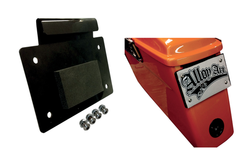 Alloy Art License Plate Mount for '93-13 FL Models w/ Hard Bags -Black Anodized