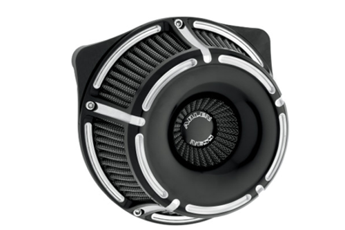 Arlen Ness Inverted Series Air Cleaner Kits for '88-Up XL -Slot Track, Black Anodized