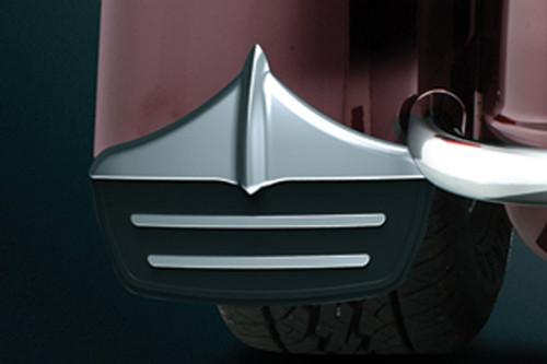 Kuryakyn Mud Flaps for '11-'20 FLHTCUTG Tri Glide Ultra Classic & '11 FLHXXX Street Glide Trikes - Pair