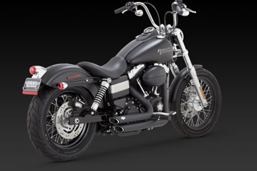 Vance & Hines Shortshots Staggered  for Harley Davidson Dyna '12-17  -Black