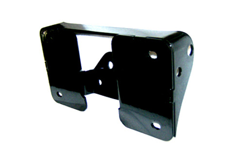 Easy Brackets Turn Signal Relocation Kit & Lay Down License Plate Mount for '07-17 FLSTF Softails ONLY - Black Powder Coat