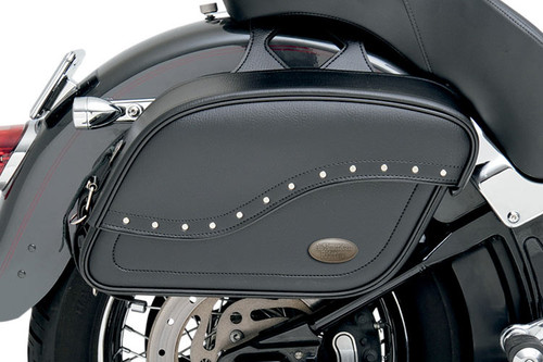 All American Rider Extra -Large Futura 2000 Slant Saddlebags -Rivet