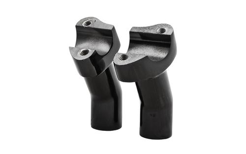 "Hard Drive Forged Handlebar Risers for 1"" Bars -3.5"" Black Pullback Style"