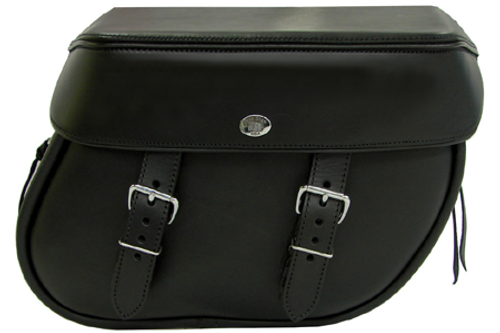 Boss Bags Close Fitting #40 Model Plain Style for Softail Models