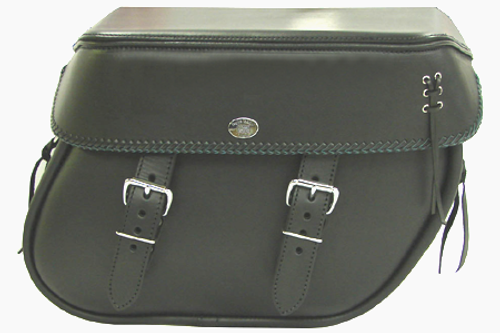 Boss Bags #38 Model  Braided Lid Valence with  Laced Leather on Lid Corner