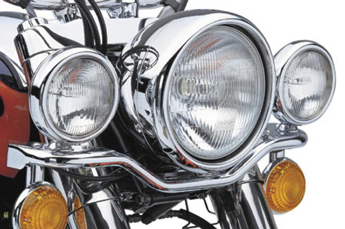 Cobra Steel Lightbar with Spotlights  for Vulcan 1500D/E/Classic '96-up DOES NOT FIT VULCAN 1500 FUEL INJECTED  MODELS OR N MODELS