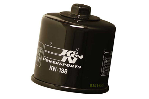 K & N Powersports Performance Gold Oil Filters Black KN-138