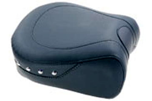Mustang Seats 11 inch Recessed Rear Seat for Harley Davidson Touring Models 1997-Up -Chrome Studs