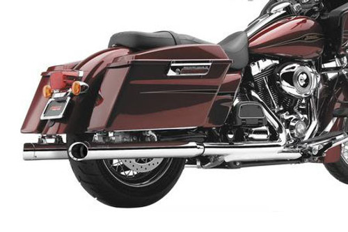 """Cobra  3""""  Slip On Mufflers w/ Billet Tips for H-D Touring Models '95-16 Chrome"""