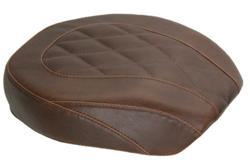 Mustang Wide Tripper Passenger Seat for '06-17 Dyna/Wide Glide Models -Diamond Stitch, Distressed Brown