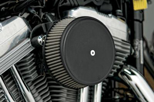Arlen Ness Big Sucker Stage 1 Performance Air Filter Kit with Cover for Harley Davidson Touring '08-16, Softail & FXDLS '16-17 -Black, Standard Filter