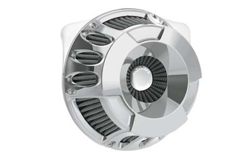 Arlen Ness Inverted Series Air Cleaner Kit for Harley Davidson Touring 2008-2016, Softail & FXDLS 2016-2017, Deep Cut -Chrome