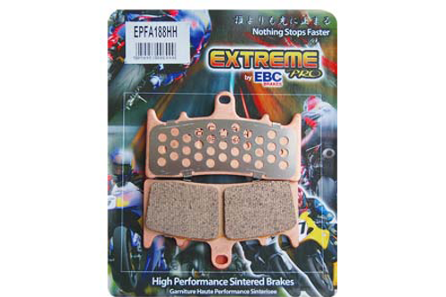 EBC Brake Pads FRONT Extreme Performance Sintered Metal Pads for '08-12 FLHT/FLHR/FLTR/FLHX & '09-12 H-D FL Trike-Pair OEM# 41854-08