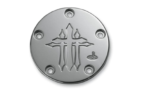 Carl Brouhard Designs Points Covers for '99-Up Twin Cam -Cross Series, Chrome
