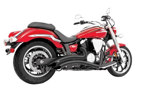 Freedom Performance Sharp Curve Radius Exhaust for '10-17 Honda Fury/Sabre/Stateline/Interstate 1300 -Black