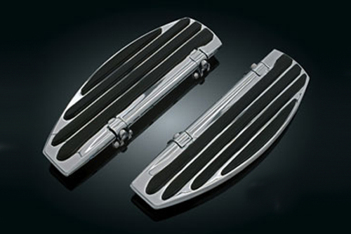 Kuryakyn ISO-Board Driver Floorboards for '83-11 Electra Glides, Road Kings, Road Glides Street Glides, Tour Glides, Trikes, & all '86-'11 FLST Models, '12 Dyna Switchback