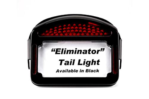Cycle Visions Eliminator LED Taillight/License Plate Frame -FLSTF '00-Up -Black