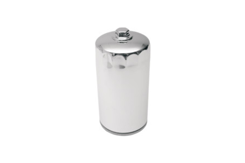 Drag Specialties Spin On Oil Filter for '91-98 Dyna Glide Repl. OEM #63813-90 -Chrome with Nut