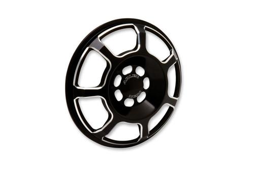 Arlen Ness Front Speaker Grilles for '96-13 FLHT/FLHX & H-D FL Trikes -Beveled, Black Pair