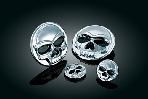 """Kuryakyn Zombie Medallions Stick-On Skull Accents -Small 1"""" (Large Sold Separately) -Pair"""