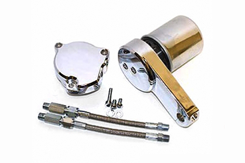 Baron Oil Filter Relocation Kit For V-Star 1100 99-09 (Will Work with Engine Guards)