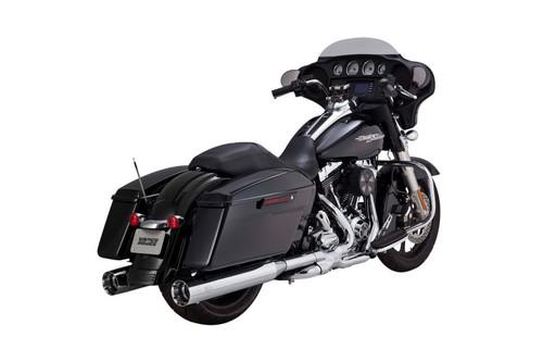 Vance & Hines OverSized TITAN OS 4.5 inch Slip-on Mufflers for '95-16 Harley Davidson Touring - Chrome