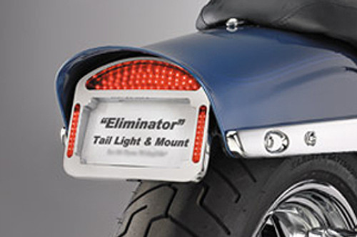 Cycle Visions Eliminator LED Taillight/License Plate Frame -FXDF '08-Up -Chrome
