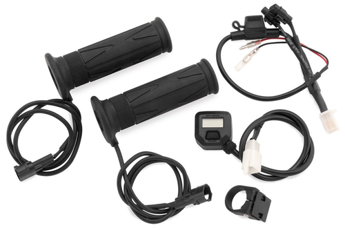 BikeMaster Heated Grips with LCD Voltage Display for 7/8 inch bars -Pair