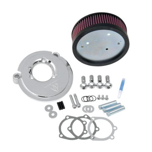 Arlen Ness   Big Sucker Stage 1 Performance  Air Filter Kits for  XL Models  '91-Up -Chrome DOES NOT INCLUDE COVER