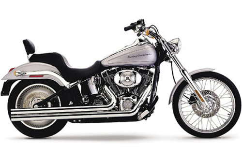 Cobra Speedster Longs Exhaust with PowerPort for Harley Davidson Softail '86-06