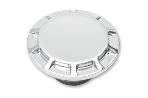 Carl Brouhard Designs Straight Cut Gas Caps for L96-12 H-D Models -Straight Cut-Chrome, Non-Vented