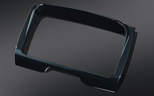 Kuryakyn Tri Line Stereo Trim Only for '14  Electra Glides, Street Glides, Trikes -Chrome (Shown in Gloss Black) (ea)